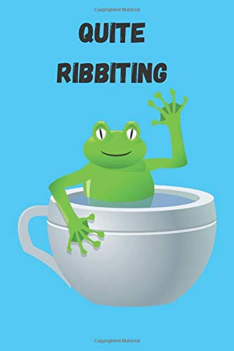 Frog Notebook-Quite Ribbiting: 6x9 journal lined paper 120 page