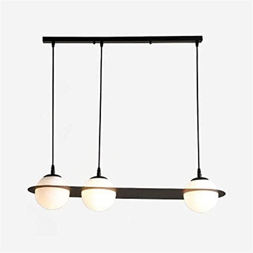 Luz del techo, 3 luces Moderno de hierro Vidrio Colgante Lámpara Colgante Industrial Peligro Personalidad Restaurante Sala de estar Diseño Colgante Lámpara Mesa de comedor Luz L85CM Altura Ajustable E