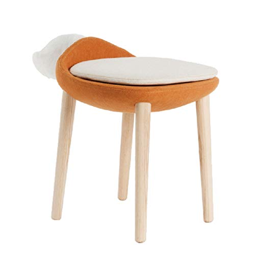 Fauteuils berçants Fox Maquillage Chaise Salle À Manger Meubles Petit Appartement Dressing Tabouret Chaise Nordique Chaise Dossier (Color : Orange, Size : 42 * 50cm)