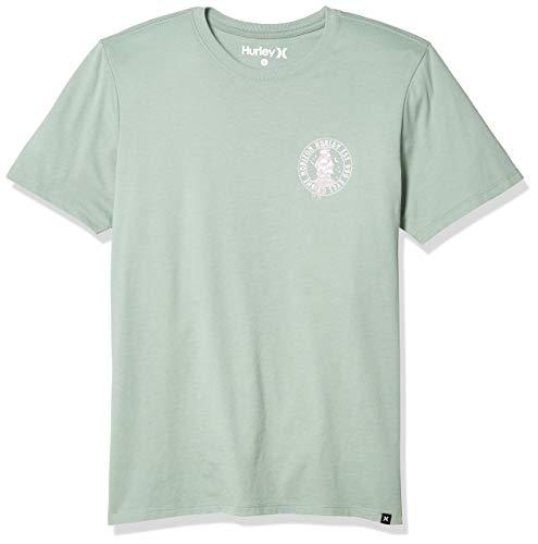 Hurley Men's Dri-Fit Overboard Short Sleeve Tshirt, Silver Pine, L