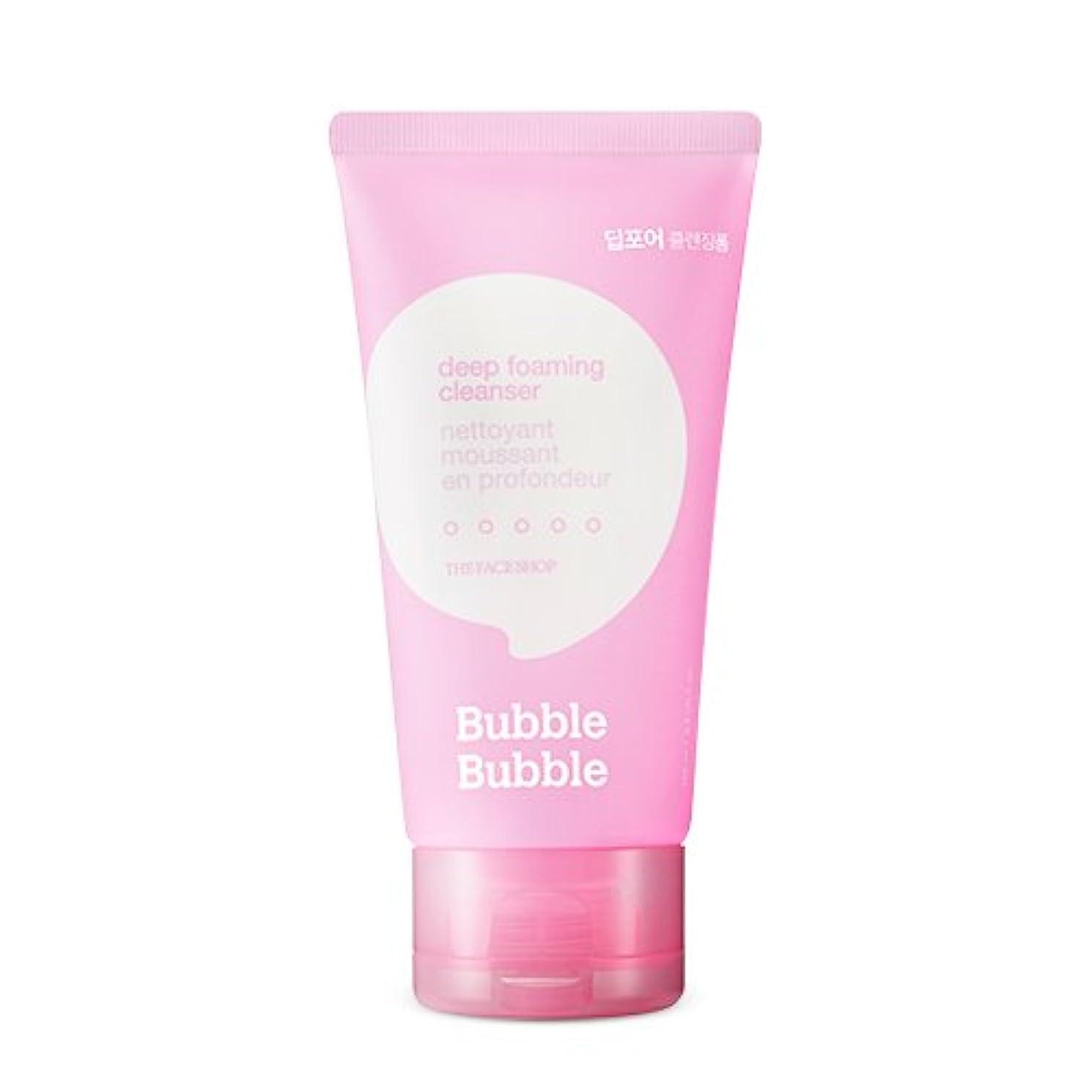 歌櫛不完全なTHE FACE SHOP Bubble Bubble Foaming Cleanser 100ml/ザフェイスショップ バブル バブル フォーミング クレンザー 100ml (#Deep(ディープポア)) [並行輸入品]