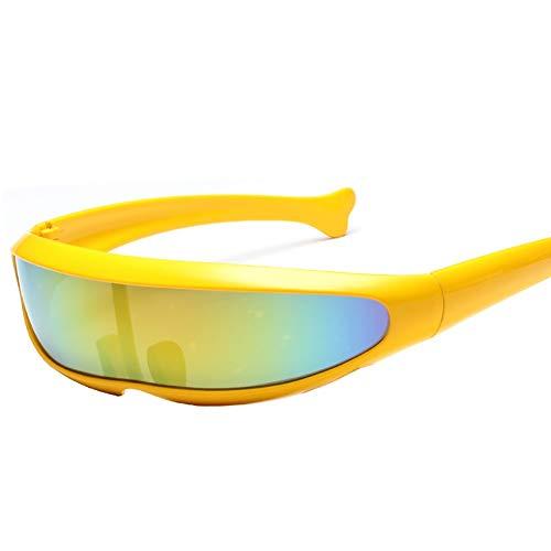 Gafas de sol futuristas Cyclops estrechas Ohhome Cosplay Gafas de color Gafas de moda Gafas para fiesta