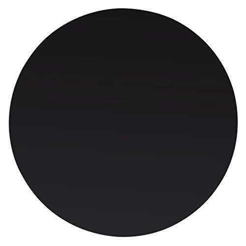 Cristal Negro Redondo para mesa en varias medidas biseladas