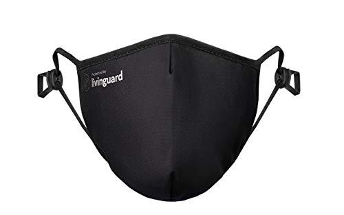 Livinguard – Street MASK   2-Lagige Gesichtsmaske   Verstellbar, Waschbar, Wiederverwendbar (Black, L)