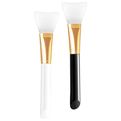 Silicone Face Mask Brush, 2 PCS HOFASON Silicone Brushes Cosmetic Scrapers, Facial Applicator Brushes for Applying Facial Mask, Eye Mask, Serum or DIY Makeup Tool