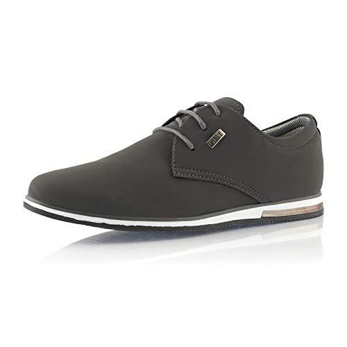 Fusskleidung® Herren Business Schuhe Casual Sneaker leichte Turnschuhe Grau EU 40