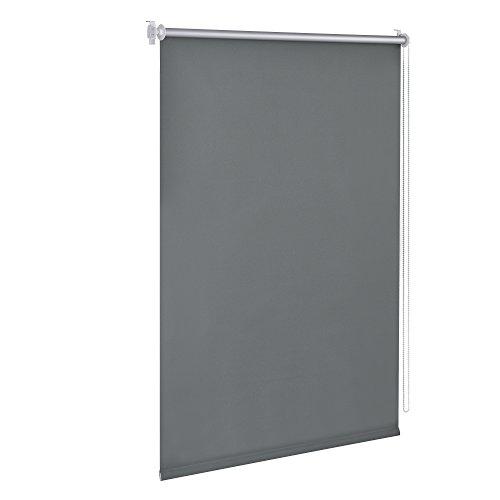 [neu.holz] Cortina enrollable - 50x175cm - gris - no necesita taladrar