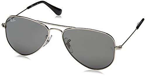 Ray-Ban 0RJ9506S 212/6G 52 Occhiali da Sole, Argento (Shiny Silver/Grey Silver Mirror), Unisex-Bambini