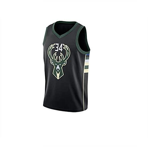 JX-PEP Chaleco de Baloncesto de los Hombres Tamaño 34 Top Uniforme de Baloncesto, Adecuado para los fanáticos,Black1,S