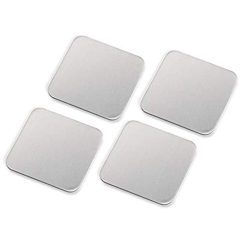 サンワダイレクト ノートパソコン冷却パッド 激冷 43mm 角型 4枚入り iPad タブレットPC 対応 シルバー ASS...