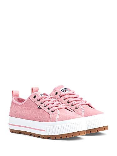 Tommy Hilfiger Donna Sneakers WMNS Cleated City Pink Mod. EN0EN00714, Pink - Rosa - Größe: 39 EU