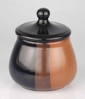 Tabaktopf Keramik schwarz/braun, für ca. 100 gr.Tabak