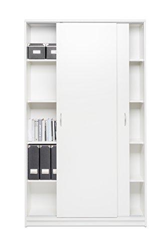 Schiebetürenschrank mit Aluminium-Laufschiene / Aktenschrank (B/H/T: ca.: 109 x 188 x 39 cm)...