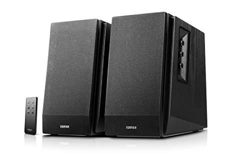 Edifier R1700BT BK Lautsprechersystem (66W) für TV/PC/Notebook/Tablet/Smartphone, Regallautsprecher in schwarz