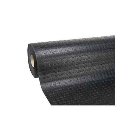 Passatoia Zerbino Tappeto Rivestimento Pavimenti in PVC Antiscivolo Flessibile e Resistente Disegno Bollato Larghezza 100 cm Lunghezza Rotolo 25 m Colore Nero