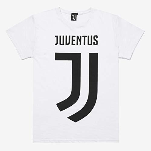 Juventus Maglietta T-Shirt Maniche Corte Bianca con Logo - 100% Prodotto Ufficiale - 100% Originale - Uomo - Scegli la Taglia (Taglia S)