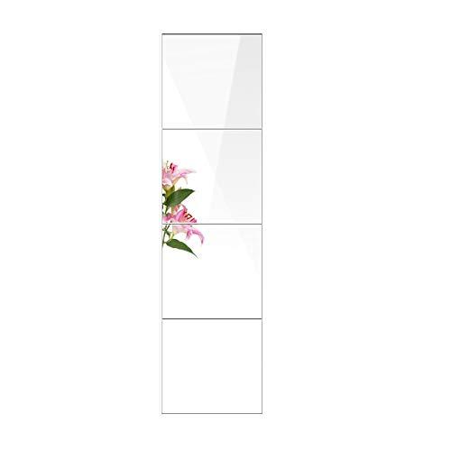 FANYUSHOW Espejo de pared, autoadhesivo, 6 unidades, 26 x 26 cm, espejo de cristal, sin marco, para decoración en baño y dormitorio