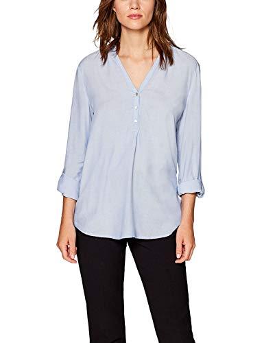 ESPRIT Damen 999EE1F801 Bluse, 440/LIGHT Blue, 40