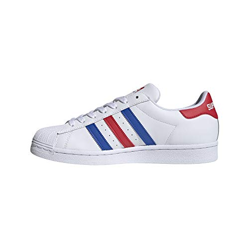 adidas Originals Herren Superstar Shoes Turnschuh, Weiß/Blau/Team Collegiate Rot, 47 EU