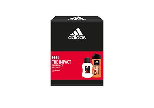 Adidas, Confezione Regalo Uomo Team Force, Eau de Toilette 50 ml e Gel Doccia Bagnoschiuma 3in1 250 ml