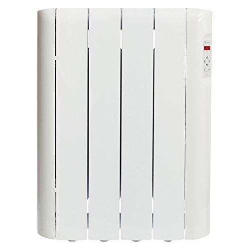 Haverland RCE4S - Emisor Térmico Digital Fluido Bajo Consumo, 600W de Potencia, 4 Elementos, Programable, Exclusivo Indicador De Consumo, Para estancias de hasta 8m2
