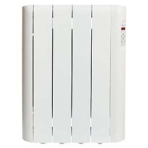 Haverland RCE4S - Emisor Térmico Digital Fluido Bajo Consumo, 600 de Potencia, 4 Elementos, Programable, Exclusivo Indicador De Consumo
