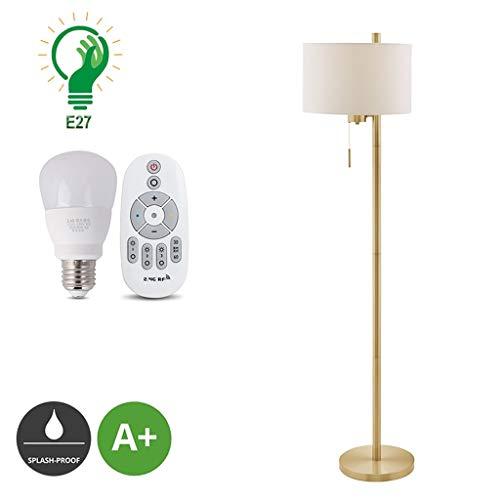 XXCC Licht staande lamp strijkijzer woonkamer verlichting slaapkamer nachtlese verticale vloerlampen creatieve trekschakelaar stof lampenkap vloerlamp