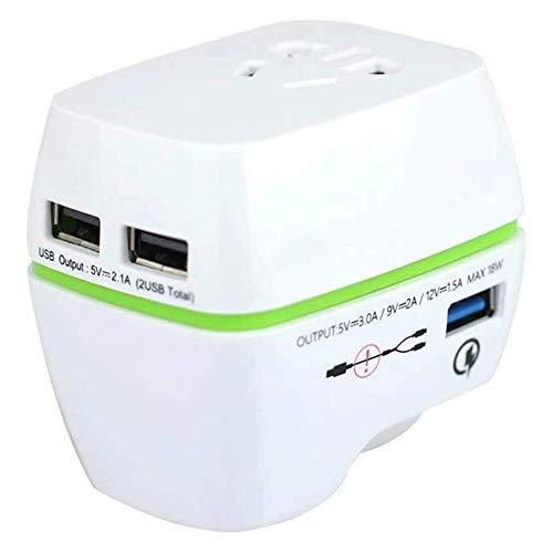 WYKDL Viajes Adaptador de alimentación de Bajada 220v a 110v convertidor de Voltaje con 3 Puertos USB en Asia Europea más de 150 países del Mundo