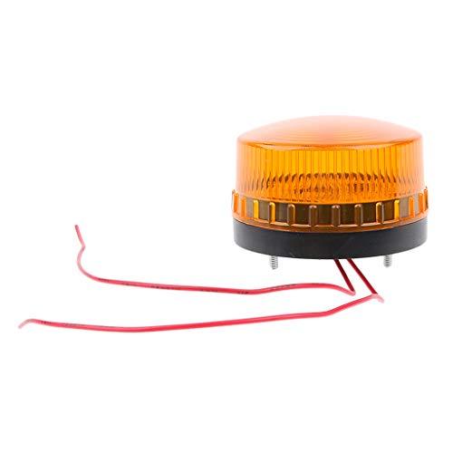 perfk Gyrophare LED Ambre Clignotant Stroboscopique Motocyclette Auto Piece Rechange