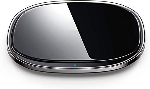 Gymqian Cargador Inalámbrico, 15W Max Fast Wireless Carging Pad Qi-Certificado por la Estación de Carga Inalámbrica para Iphone 12/11/11 Pro Max/Xr/Xs Max/Xs, Negro Ligero y p