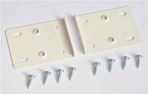Creme Küche Schrank Tür Scharnier Set enthält 2Platten und Befestigungsschrauben