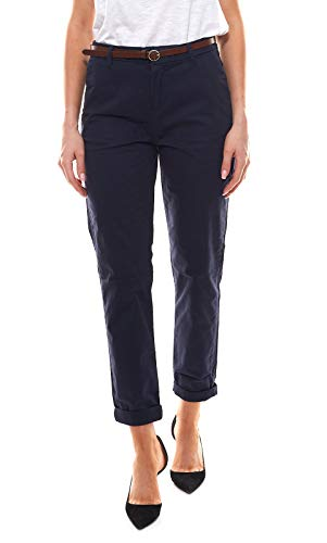 Scotch & Soda Maison Damen 'Regular fit' Chino, Sold with a Belt Hose, Blau (Night 0002), 26W / 32L