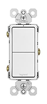 Legrand radiant 15 Amp Combination Switches Rocker Wall Light Switch White 2 Single-Pole Switches RCD11WCC6