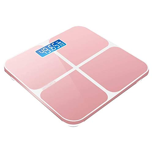 HEMFV High Precision Electronic Scale Digital Body Weight Bathroom Scale, Bathroom Scales for Body Home Bathroom Adult Weight Loss Body Fat Scale Intelligent Measuring Room Temperature,Colour:Black