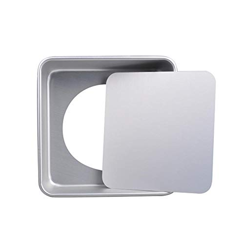 6/8/10 Inch Baking Tray Anodized Aluminum Square Cake Pan With Removable Bottom Nonstick Baking Tray Baking Tools-6 Inch