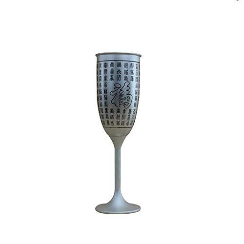 XXSC-ZC Copa de Vino de Plata esterlina, Vino Tinto Coctel de champán Blanco Vino de Cristal de Brandy, Vidrio de Jugo, Taza de café, Vintage de Plata de Vino de Plata,100ML