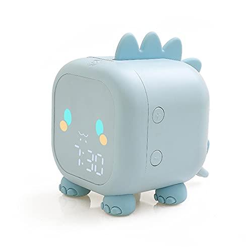 JklausTap Reloj de alarma lindo de la forma del dinosaurio reloj de la luz de la noche del temporizador del sueño