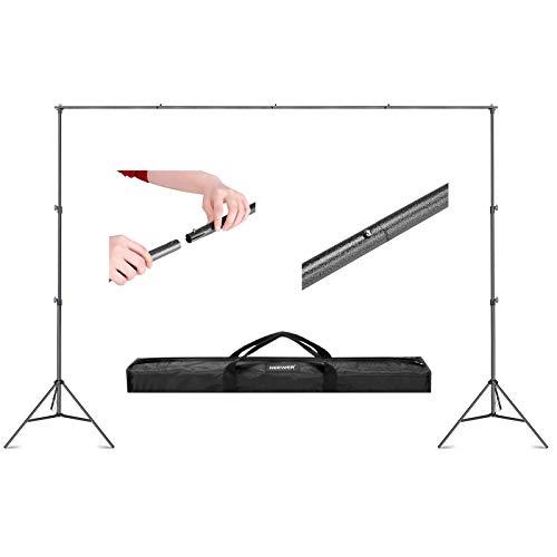 Neewer 2x3m Supporto Stand per Fondale Sfondo Fotografia Regolabile Sistema di Supporto con Borsa di Trasporto per Studio Fotografico Video Registrazioni