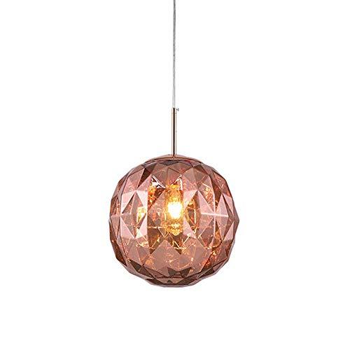 Isla de cocina moderna Mini accesorio de iluminación colgante con pantalla de acrílico Lámpara de cristal con forma de bola de cristal Lámpara colgante de techo tipo loft para sala de estar