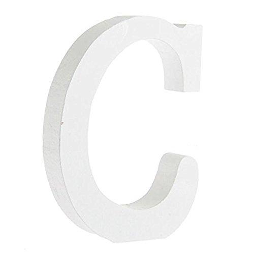 Worsendy Buchstaben Holz weiß, Handwerk Holz Holz Briefe Braut Hochzeitsparty Geburtstag Spielzeug Home Dekorationen 8 * 6CM (C)