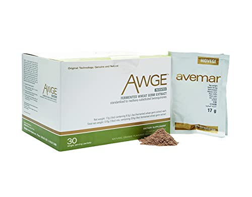 Authentic Avemar™ Awge Granulate - Fermented Wheat Germ Extract, Daily Immune and Cell Support, Natural, Avemar Pulvis™ Super Concentrate, Natural Instant Drink Mix, 30 Packets