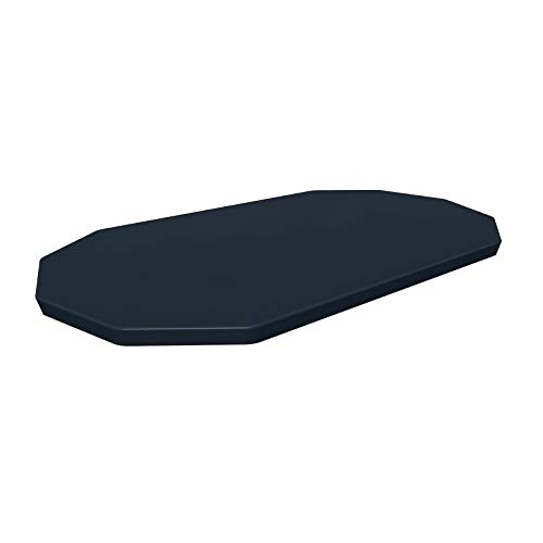 Bestway Abdeckplane 418x230 cm, Grau, für Oval Pool 424x250x100 cm Flowclear-Lona Protectora de PVC (418 x 230 cm, para Piscina Ovalada Power Steel 424 x 250 x 100 cm), Color Gris