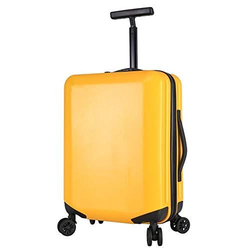 Handbagage spinner, 2019 kleine koffer voor mannen en vrouwen, universele fiets, kofferbaklicht, kruiwagenbox, wachtwoord chasis, ritssluiting, mat geel