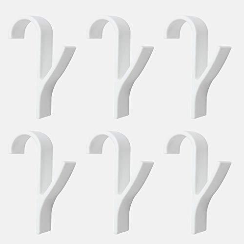 Multifuncional de alta calidad Toalla de alta calidad Rack Radiador Radiador Radiador Gancho Gancho Perchador Ropa Rack Bufanda flexible Percha baño negras (Color : 6pcs)