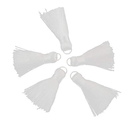 Baoblaze Handgemachte kleine weiche Quasten Mini-Quasten für Schmuckherstellung - Weiß