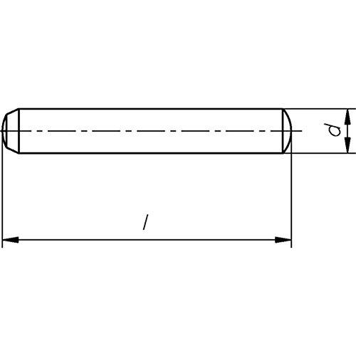 Zylinderstifte gehärtet, Stahl Toleranzfeld m6 DIN 6325-5 x 30-100 Stück