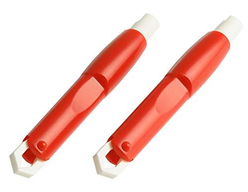 valonic Zeckenzange 2X | rot | tick Remover | Zeckenpinzette | Zeckenentferner für Hunde und Katzen
