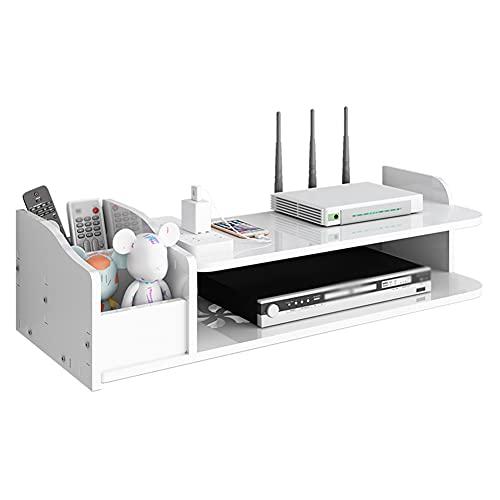 YXZN Estante de Pared de Almacenamiento de enrutador Decodificador de TV montado en la Pared Estante de Almacenamiento WiFi Caja de Refugio Caja de Almacenamiento Decorativa Creativa