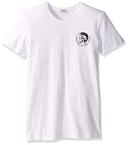 Diesel Herren Randal 3 Pack Crew Neck T-Shirts Funktionsunterwäsche, weiß, Medium