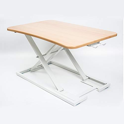 YUEXIN Height Adjustable Standing Desk,Laptop Table,Sit Stand Up Desk Converter Laptop up to 15kg,Ergonomic X-Frame Riser, Suitable for All workstations and Standing Desk workplaces